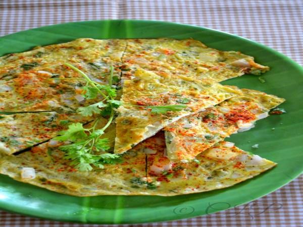 how to prepare keerai omlet