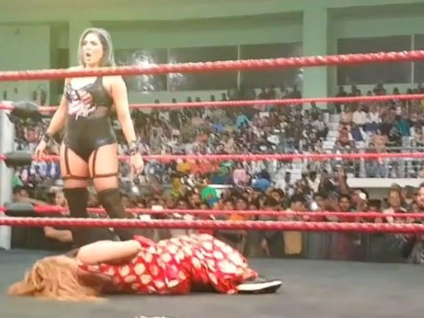 rocky swant attacked by lady wrestler