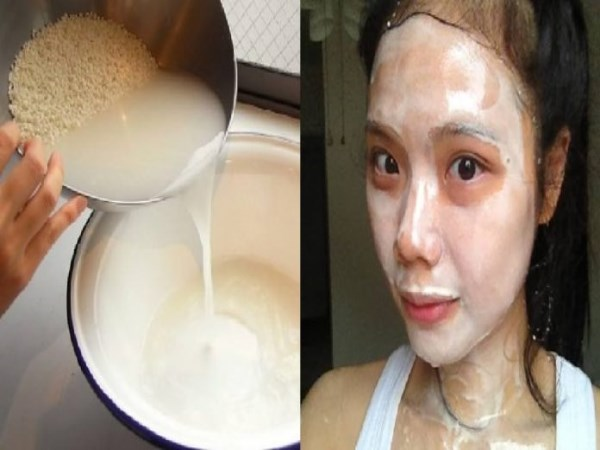 rice cleaning water to cure face problems don