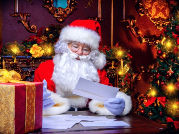 10 year baby write letter for santa clause