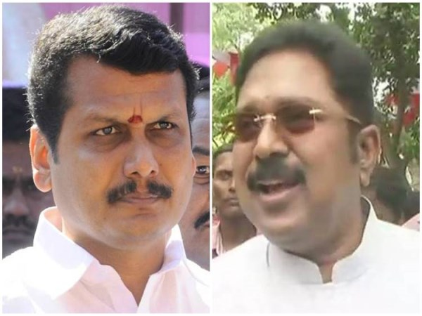 ttv dhinakaran talk about senthil balaji