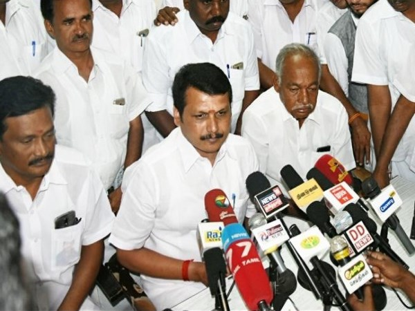 senthil balaji will join dmk and will work with kn nehru