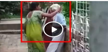 the old mother hit in daughter arrested is vairal video