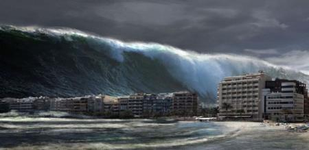 The most powerful earthquake in residential areas! Tsunami caution !!