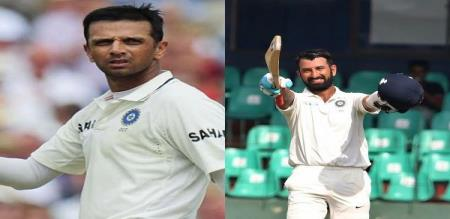 WOW! What a solidarity to both! Pujara - Dravid!