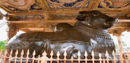Tanjore Nandhi statue
