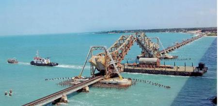 new railway bridge in Pamban