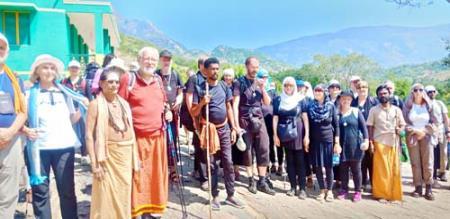 other country pilgrims trekking sathuragiri