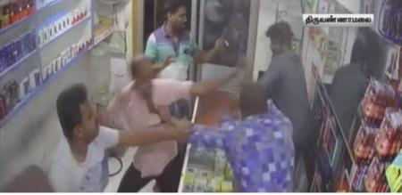 dmk party members attacked shop owner