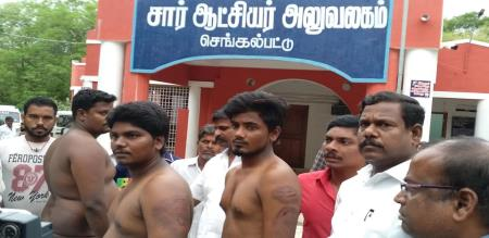 Police attack pmk youth persons in chengalpet jail, strong protest against police by pmk