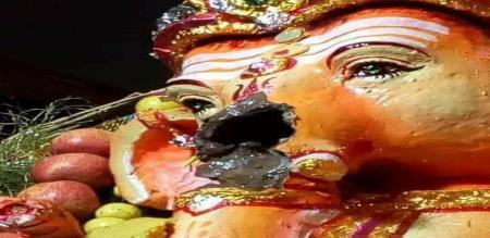 vinayakar statue dameged in thirunelveli