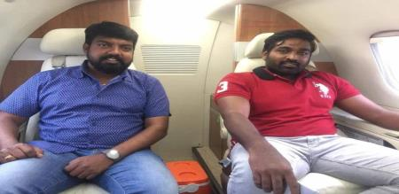 Vijay Sethupathi who came in a separate flight!