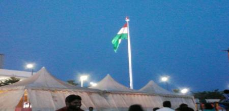 national flag still on poll erode