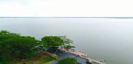 lake water level is increased