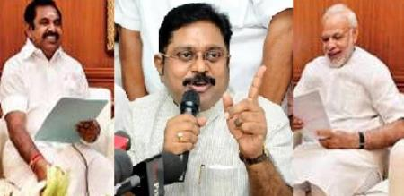 eps and central govt blamed by ttv dhinakaran