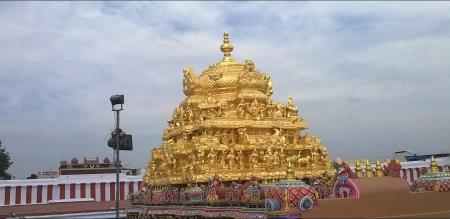 Aandal temple tower collapsed news spread ed in local towns