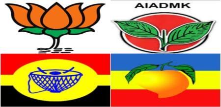 tamilnadu firework party members support admk alliance member dmdk alagarsamy