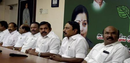 admk minister speech is different