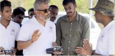 Actor Ajith trained the students to find the world record of small flight