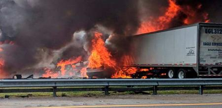 in america a tourist van accident//. 5 children s died by fire