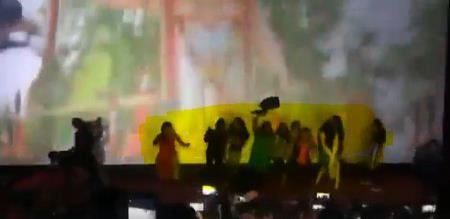 girls dance in theatre in front of viswasam movie song