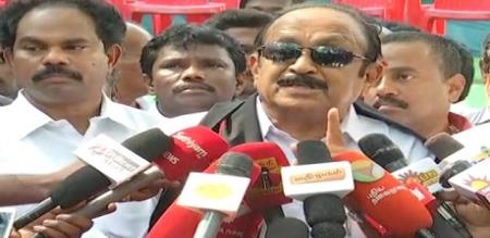 vaiko says about modi