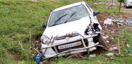 A CAR ACCIDENT IN MADURAI.