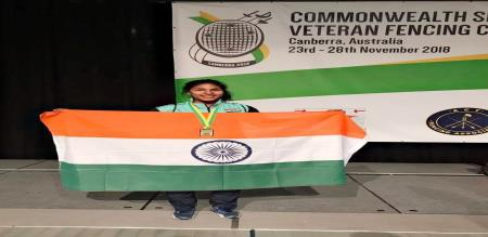 chennai girl bavani sevi won gold in senior common wealth game