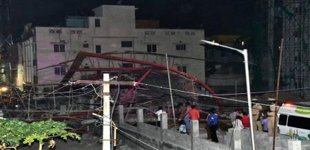 17 injured as scaffolding of under-construction building collapses in Chennai