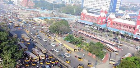 Chennai is totally closed due to central govt employees strike