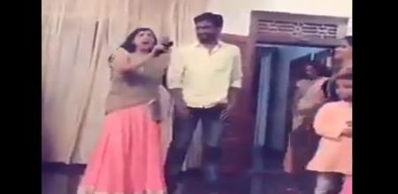 a new married men taking lot of comedy by her future wife house