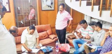 raid for durai murugan house in vellore