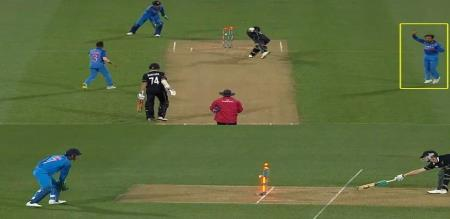 dhoni presence of mind gain wicket of james neesham