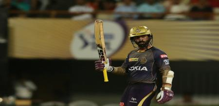 Dinesh Karthik scored unbeaten 97 against rajasthan royals