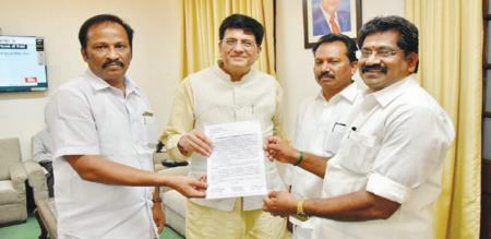 admk mp given letter to piyush goel to stop extend mine 3 in nlc