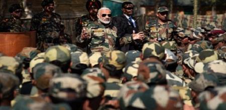 modi celebrate Diwali with army