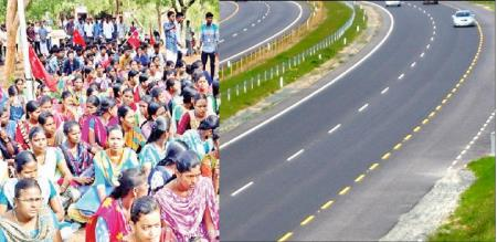 Students of college students boycotted the classes protesting against the Salem 8 ways road order.