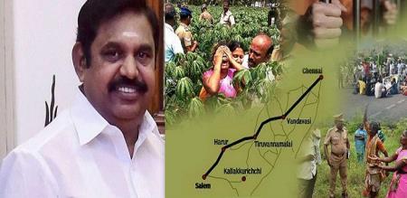 Edappadi plan to drop hennai-Salem green corridor Expressway