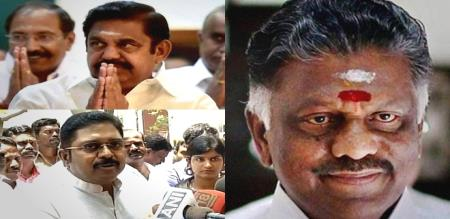 DEC 5 OPS EPS AND DINAKARAN MOURNING TO JEYALALITHA