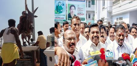 tn cm election campaign in alanganallur