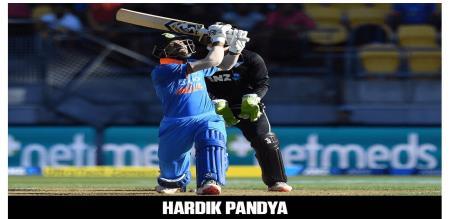 Hardik Pandya hit 4th hatrik sixes in odi