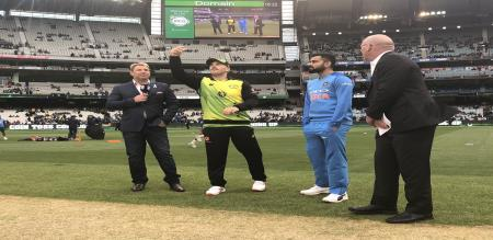 india won the toss and elected field second T20 against australia