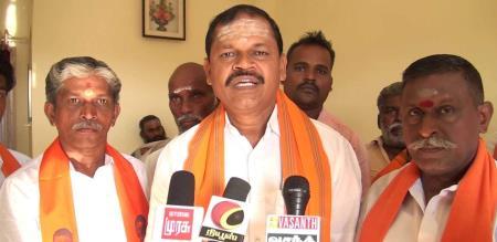 arjun sambath says about dmk and kamal