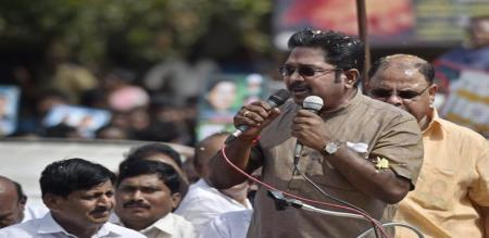 dhinakran angry speech about admk in namakkal