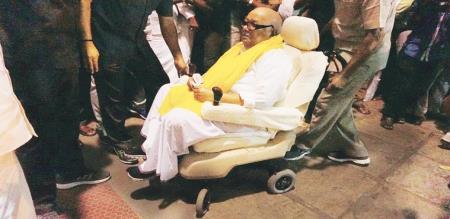 DMK leader M. Karunanidhi