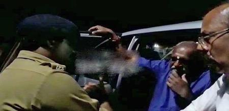 police take action against bjp minister