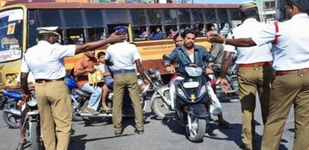 tn police fine in helmet issue