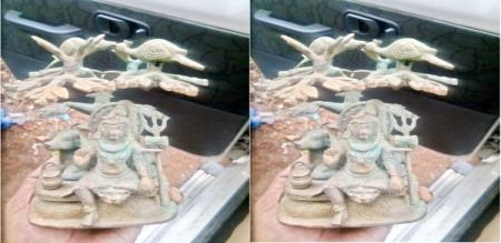 god shiva statue find in kollidam river