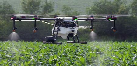 Heli cam used for agriculture in TN