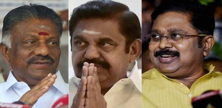 ttv dinakaran angry about eps ops